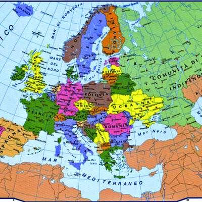 Cartina Con Capitali Europa.Capitali Europee Mappa