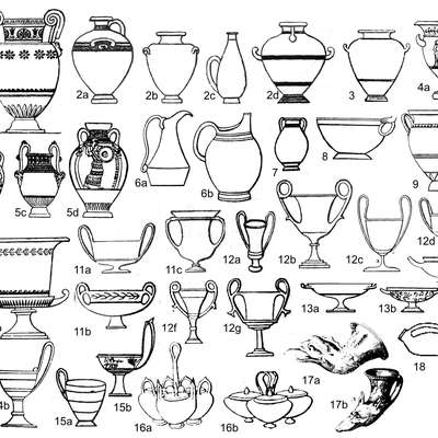 Ancient Greek pottery shapes