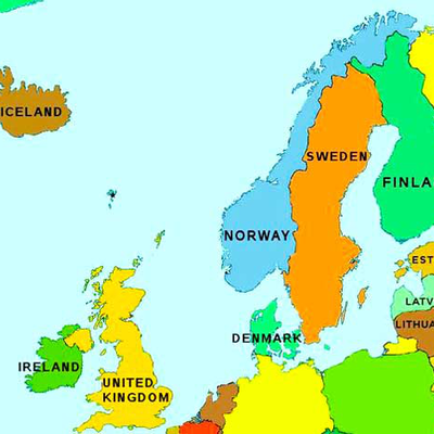 northern europe map with capitals Northern Europe: Countries and Capitals   Memrise