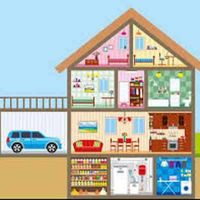 les pi ces de la maison memrise. Black Bedroom Furniture Sets. Home Design Ideas