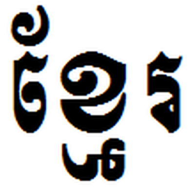 Khmer writing system