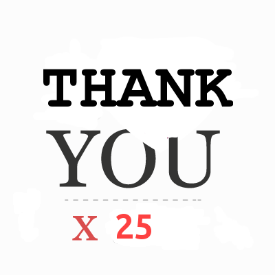 """Thank You"" in 25 languages"