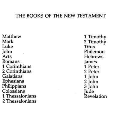 Books of the Bible ~ New Testament