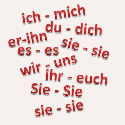 Ihr dich euch du mich ich German pronouns