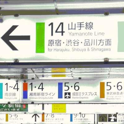 29 Tokyo Stations: Yamanote Line Kanji