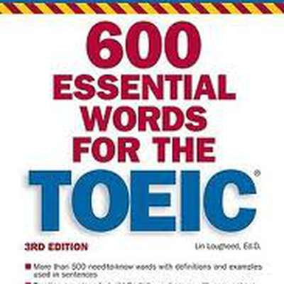 1. 600 essential words for TOEIC