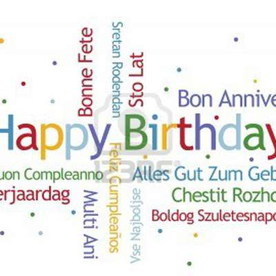 'Happy Birthday' in different languages