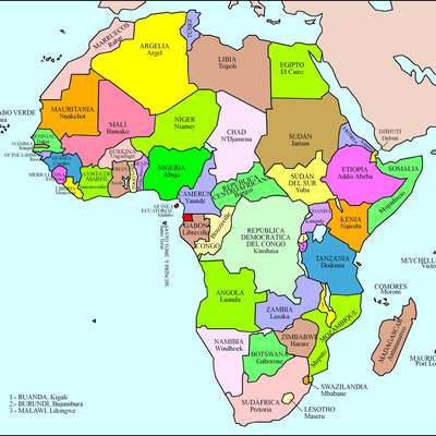 Map Of Africa With Countries And Capitals.African Countries And Capital Cities Memrise