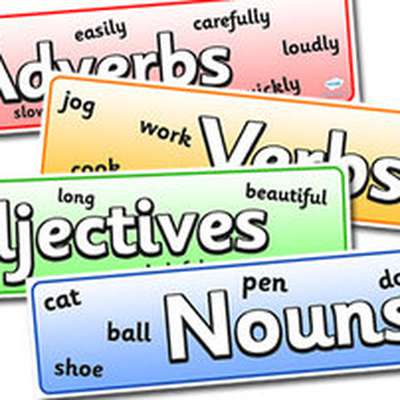 adjective adverb noun verb