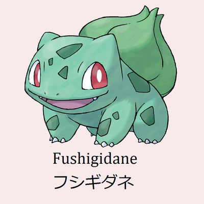 Pokémon Japanese Names