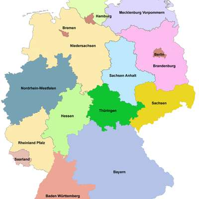 german states and capitals