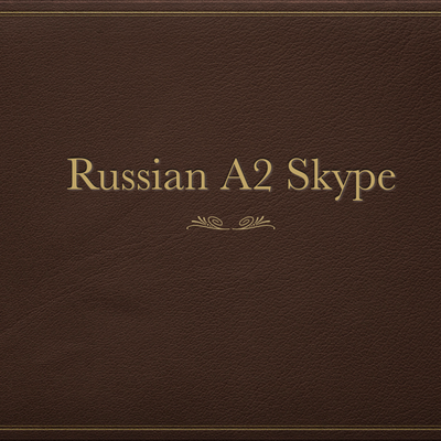 Russian A2 Skype