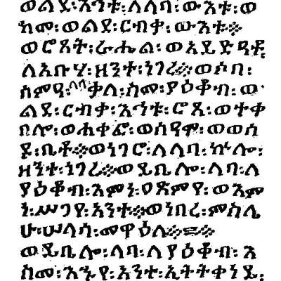 Amharic Abugida (ፊደል)