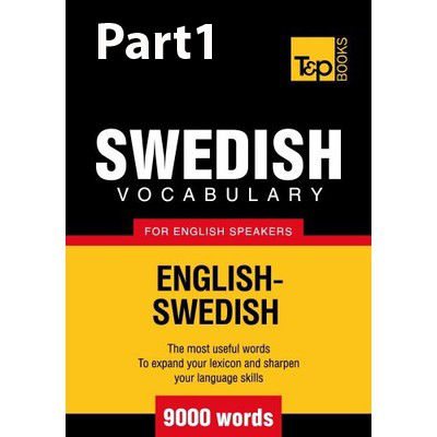 6000+ Swedish Vocabulary Words (First Half)