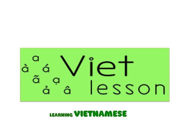 Learn Basic Vietnamese