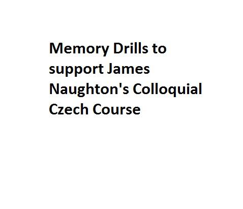 Colloquial Czech Mems 1-8