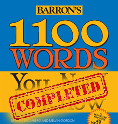 TO YOU WORDS NEED KNOW 1100