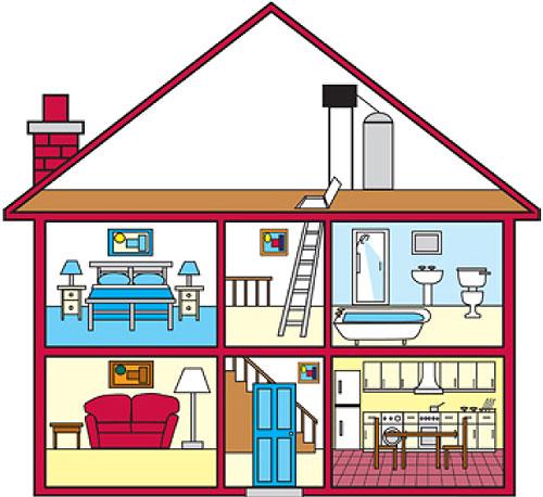 Casa partes dibujo imagui - La case de l oncle paul ...