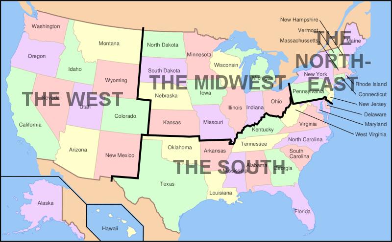 Level 10 - US states, US States, States, America, North America ...
