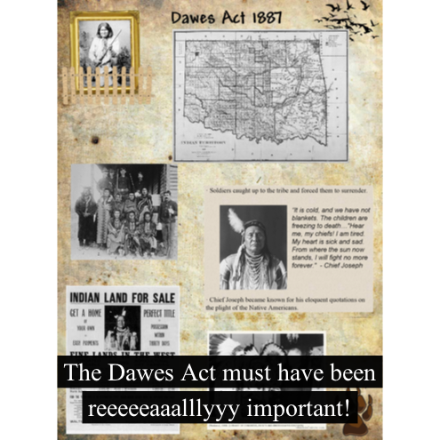 history dawes act situation Printable version dawes act digital history id 4029 date:1887 annotation: in 1871 congress declared that tribes were no longer separate, independent governments it placed tribes under.