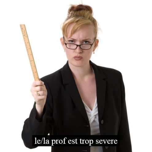 how to say strict in french
