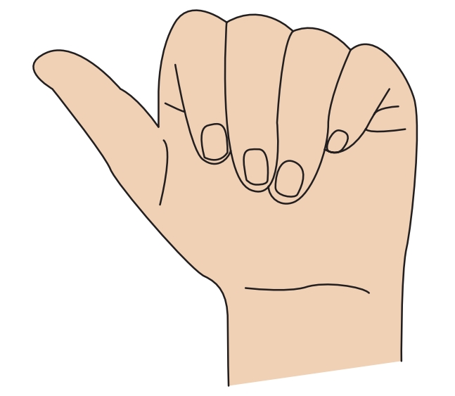 """Mano gestualizando la seña correspondiente a la letra """"a"""""""
