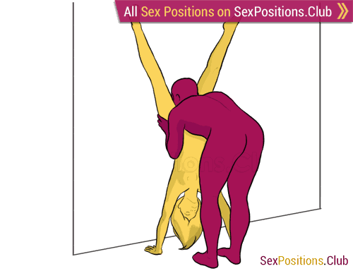Flower press sex position