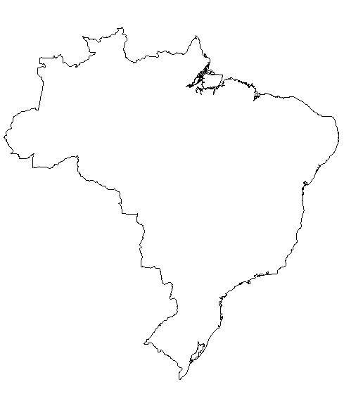 Brazil Map Coloring Page