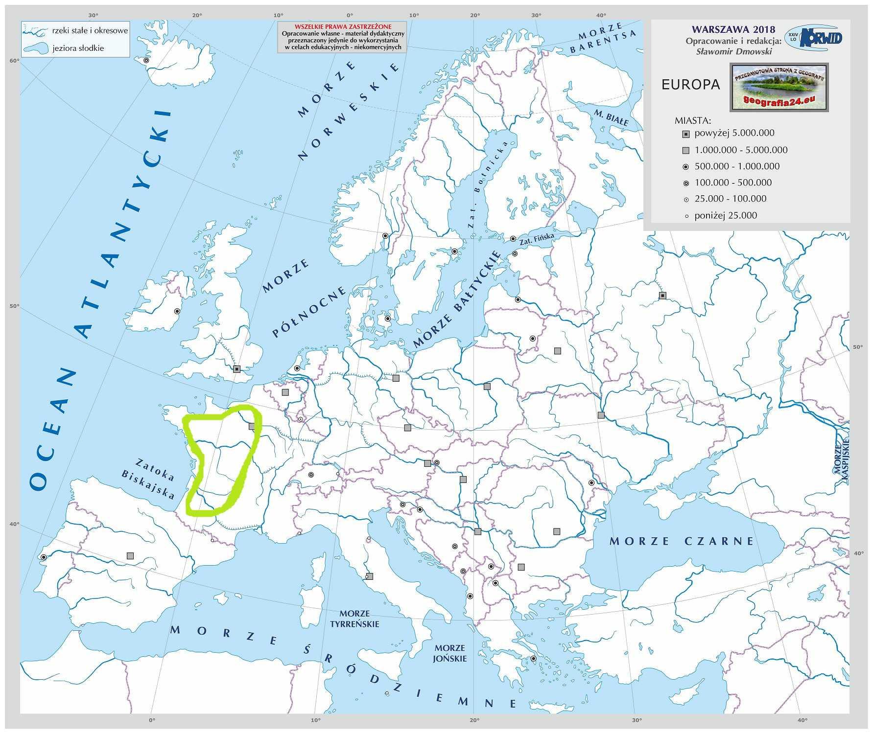 Level 22 Europa Niziny I Wyzyny 1 12 Mapa Fizyczna Swiata