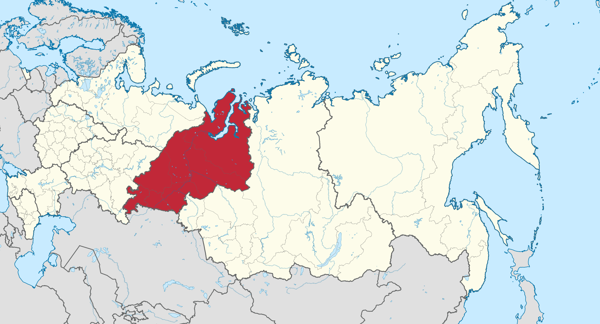 Ural Mountains Map  Russia  Mapcarta