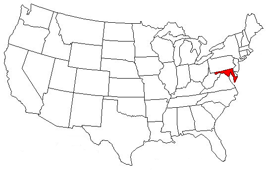 Maryland Location On The US Map Where Is Maryland State Where Is