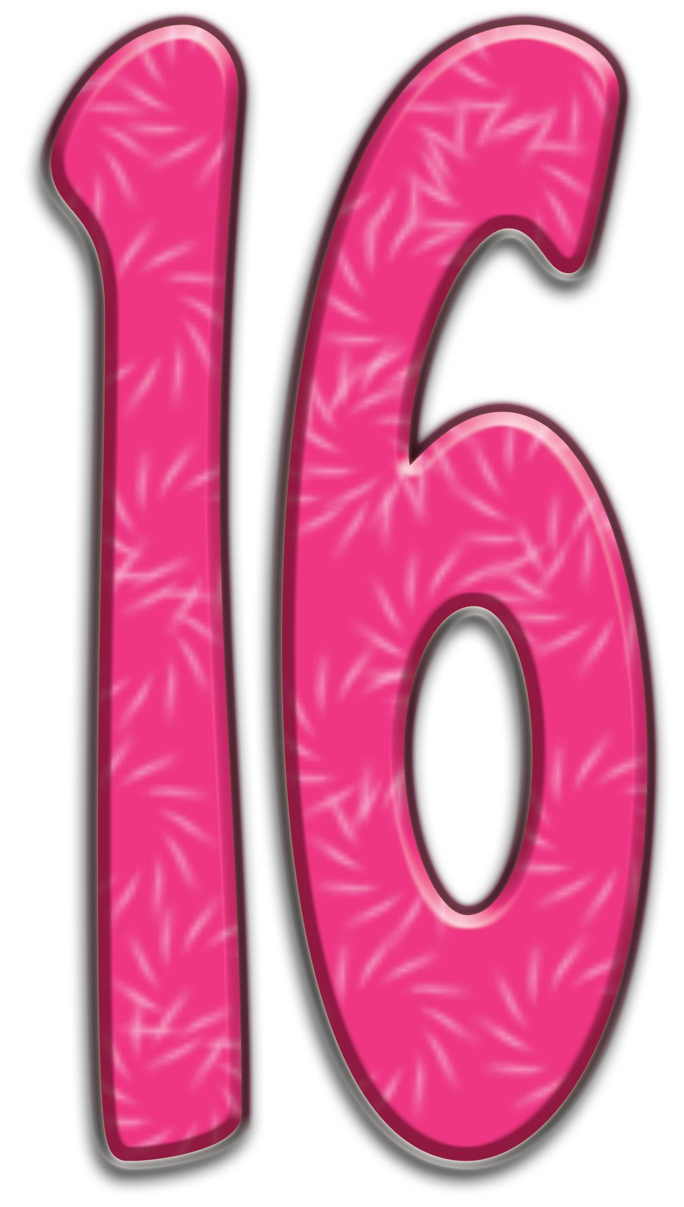 Открытка цифра 16, открыток пустые